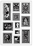 Tic-Tac Nouveaux Timbres Scrapbook Tampons Les Mieux Notés Clear Stamp 16x11cm Poste
