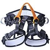 NF&E Safety Half Body Harness Sitting Bust Belt For Outdoor Rock Climbing Tree Arborist Aerial Construction Fall Arrest Protection