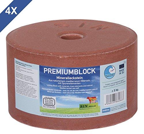 imima PREMIUMBLOCK 4er Set Mineralleckstein, 4X 3kg