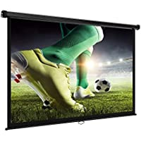 VonHaus 78-Inch Projector Screen for Wall or Ceiling Mounting   (W) 172 x (H) 97 Centimeters, 16:9 Aspect Ratio   Matt White
