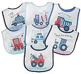 Baby Lätzchen 7 Wochentage Klettverschluss Plastik Rückseite 3 Designs -