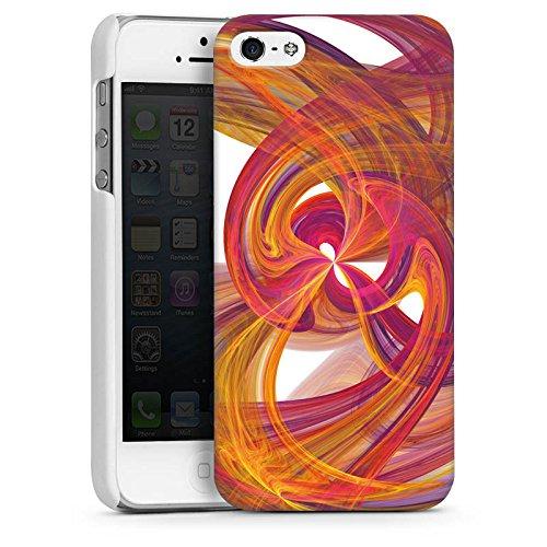 Apple iPhone 5s Housse Étui Protection Coque Spirale Peinture Abstrait CasDur blanc