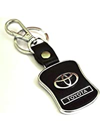 Kolossalz Toyota Black Leather Brand New Keychain For Car Men Boys