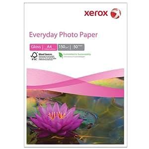 Xerox Papier photo Impression jet d'encre 150 g/m² A4 50 feuilles (Import Royaume Uni)