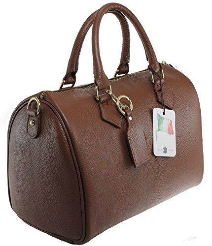 CTM Bag Handtaschen, Taschen Schulranzen, 30x23x18cm, 100% Made in Italy Braun