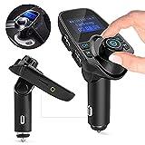 Goeous kit Bluetooth per auto con lettore MP3 trasmettitore FM wireless radio adattatore caricatore USB.