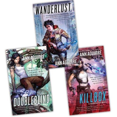Portada del libro Ann Aguirre Sirantha Jax Novel 3 Books Collection Pack Set RRP: £23.97 (Wanderlust, Killbox, Doubleblind)