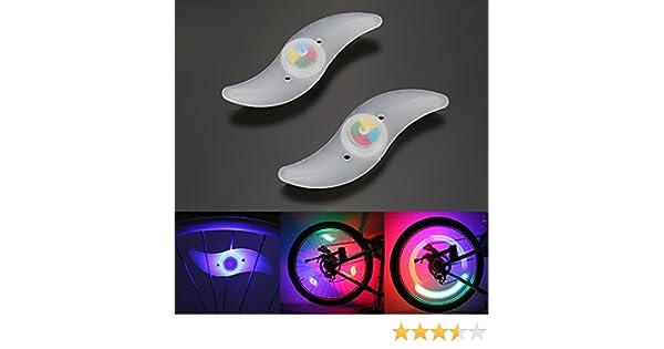 CICMOD 2x Lumière Spoke étanche Lampe LED Flash en Roue de Vélo-élégant Coloré Lumineux