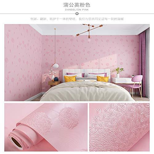 Tapete selbstklebend Schlafzimmer wasserdicht feuchtigkeitsbeständig Wanddekoration Raumtapete orange rot rosa Löwenzahn