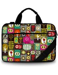 Luxburg® Design sacoche business rembourrée pour ordinateur portable à 15,6 pouces, sac à bandoulière multifonctionnel, motif: Patchwork