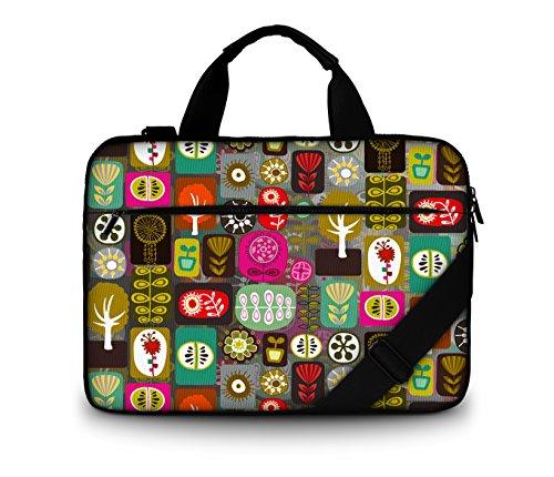 Luxburg® Borsa Business Imbottita/ Borsa a tracolla per Notebook Laptop portatile fino a 15,6 pollici, Motivo : Collage