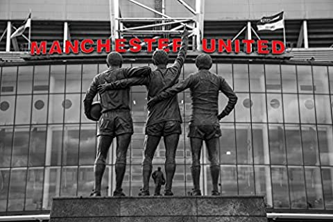 Old Trafford Manchester United Trinity Red letters MUFC 30