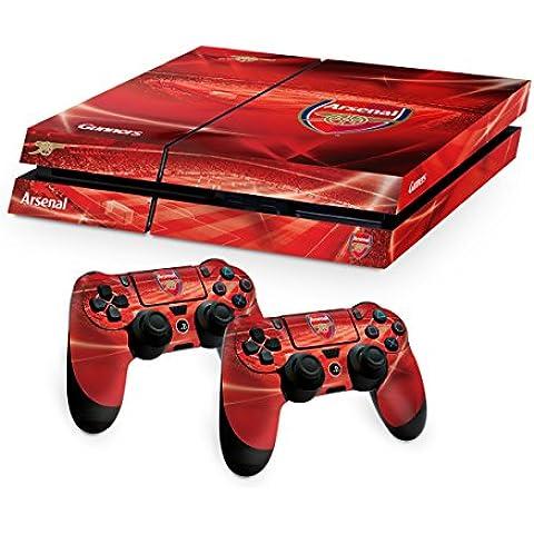 Arsenal FC Playstation 4 PS4 rosso pad controller e la pelle console Uniti immagine Stadio club crest ufficiale regalo sostenitore