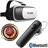 Elevea Bluetooth 4.1 Noise Cancellation Headset With 3D VR Headset Virtual Reality Box For All Smartphone & IOS Device-Assorted Colour (1 Year Warranty)