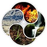 druck-shop24 Wunschmotiv: Die 4 Grundelemente der Natur - Feuer, Wasser, Erde, Luft #81713307 - Bild hinter Acrylglas - 3:2-60 x 40 cm/40 x 60 cm