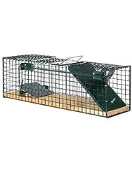 Trampa para animales vivos 55x15x19 cm - 1 Entrada - Suelo de madera modelo 6041 - Sin Feromona