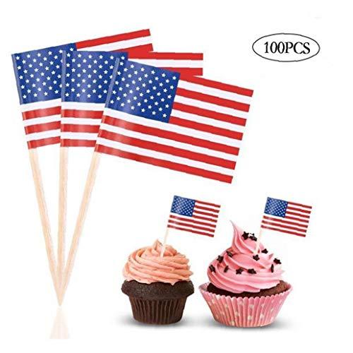 Culer 100 PCS-Amerikanische Flagge Partei Geschirr Supplies Independence Day 4. Juli-Dekorationen (In Den Partei Usa)