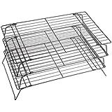 Kitchen Craft - Rejilla antiadherente de 3 pisos para enfriar (40 x 25 cm)