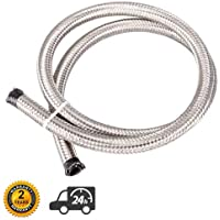 theBlueStone 20FT 8AN Nylon Braided Fuel Line Hose for 1//2 Tube Size