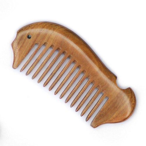EQLEF Fish shape Beard Comb Wooden Comb wide Tooth Green Sandalwood Pocket Comb Small Hair Comb Hair Brush by EQLEF - Pocket Hair Brush