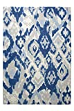 Esprit Marken Teppich, hochwertig im zeitlosen Design in sanften Aquarellfarben Cove (135 x 190 cm, blau/grau)