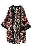 Sannysis Damen Blumen-Blumendruck Chiffon Kimono Cardigan (M)