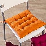 Alfombrillas de silla EHUPLUE para cojines, cojines, cojines para sillas de Buttocks Color Cojín Almohadillas de asiento cuadrado para casa oficina interior jardín patio, 40 x 40 cm, Naranja, 1 unidad