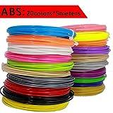 TIANLIANG04 2018 BAPASCO Marke 3D-Pen Filament thread 100 m oder 200 m 1,75 mm ABS 20 verschiedene Farben für den 3D-Druck Kugelschreiber Walzdraht 3D linear, 20 Farbe x 5 Meter, China