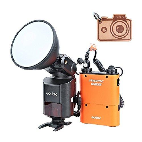 Godox Witstro AD360II TTL 360W GN80potente Wireless 2.4G X Sistema flash Speedlite Light + 4500mAh PB960Batteria al Litio per Fotocamera