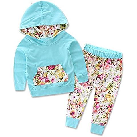 ZARU Bebés Niños Camiseta de manga larga con estampado de leopardo Top + Pantalones Conjunto de trajes