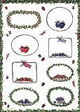 Etiketten für Marmelade- - Süsse Früchtchen- moderner Landhausstil -3 Bogen (24 Stück) - selbstklebende Einmachetiketten