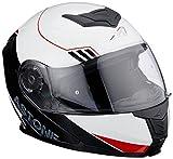 Astone Helmets - RT1200 UPLINE- Casque de moto modulable - Casque de moto polyvalent - Casque de moto homologué - Coque en polycarbonate - red/white XXL