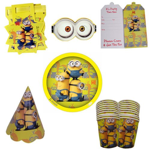 Minion Party Box MI-MIN2-PB-017 , Minions Theme Birthday Party , Minions Birthday Party Supplies