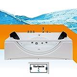 Whirlpool Pool Badewanne Eckwanne Wanne A1821N-C-ALL 180x90cm Reinigungsfunktion, Sonderfunktion1:ohne 0.-EUR, Selfclean:ohne +0.-EUR