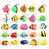 Mishiner 50 pezzi di plastica serbatoio di pesce paesaggistica decorazione decorazione di pesci artificiali finti pesci ornamenti acquario decorazione accessori stile casuale