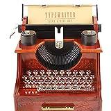 EULAGPRE 1x Retro Máquina de Escribir Clockwork Música Caja Muebles Decoración Regalos Creativos