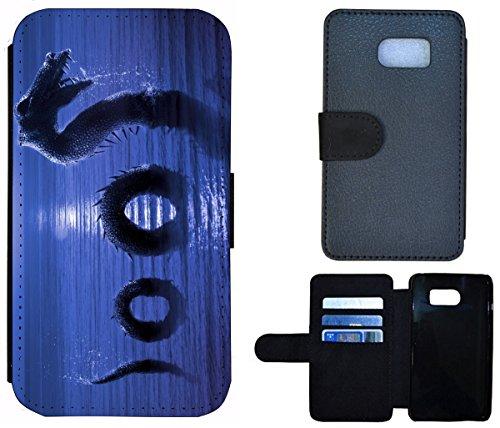 Flip Cover Schutz Hülle Handy Tasche Etui Case für (Apple iPhone 5 / 5s, 1349 Welpe Chihuahua Tier süßer Hund Hundebaby) 1356 Drache Loch Ness Nessy Dragon
