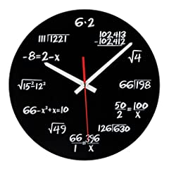 Idea Regalo - VORCOOL Orologio da parete, Creative Mathematics Blackboard Pop Quiz Orologio Orologio da parete regalo insegnante per aula Home Office