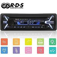 YOHOOLYO Autoradio Bluetooth Poste Radio Voiture Auto Radio Adapteur ISO Support RDS USB SD AUX MP3 Téléphone FM Stéréo Hi-FI