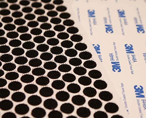 3M Klebeband mit Haken- und Schlaufenverschluss, wiederverwendbar, selbstklebend, 10 mm Durchmesser, Schwarz, Kupfer ()