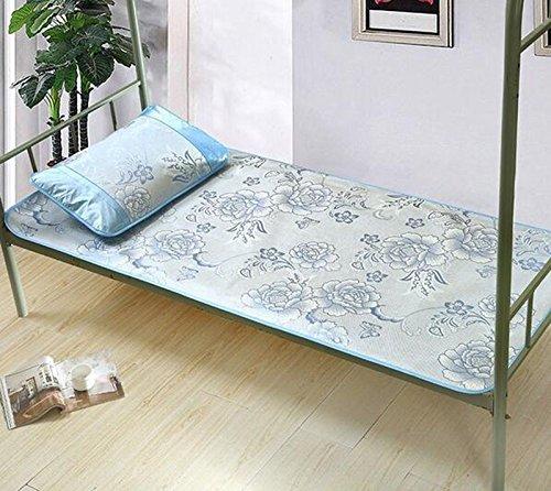 Stuoia di letto estiva Tappetini pieghevoli per studenti stuoia materassini dormitori scolastici tappetini ad aria condizionata due set di sedili in rattan + poggiapiedi letto da 0.9m ( Colore : A2 , dimensioni : 0.9 m bed )