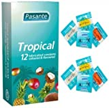 Pasante Tropical Flavours Condoms - Pack of 12