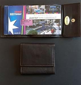 Étui cuir pour carnet de tickets restaurant Toosmart - LE MINI PC7/19