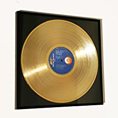 Idea Regalo - Disc'O'Clock Vasco Rossi - ALBACHIARA: Cornice con Disco d'oro - Idea Regalo per Veri Fan del Mitico BLASCO