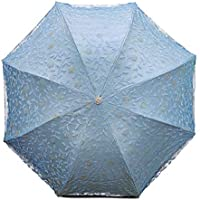 The Purple Tree Designer Lace Work Designer 3 fold Umbrella Windproof, with UV Coated Inner Layer, Sun Umbrella, Classy…