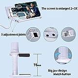 Lupa de pantalla 3D Smartphone Lupa, Proyección estereoscópica Teléfono móvil Ampliador de pantalla Película Amplificador de video Soporte Soporte de escritorio Plegable Soporte Soporte Lupa antirradi