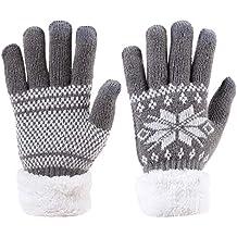 Strick Smartphone Handschuhe Norweger-Muster Winter Motiv  Handy-Tablet Computer