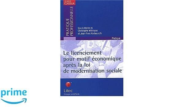 a0d553db201 Amazon.fr - Le licenciement pour motif économique après la loi de modernisation  sociale (ancienne édition) - Collectif