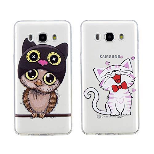 [2 Packs] Hülle für Samsung Galaxy J3 2016/J3 2015, Misstars Transparent Weich...