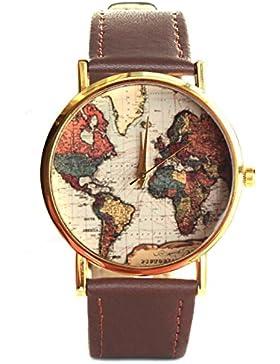 Vintage Weltkarte Armbanduhr